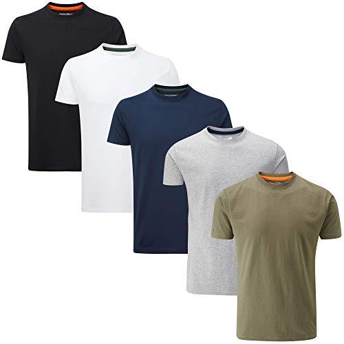 Charles Wilson 5er Packung Einfarbige T-Shirts mit Rundhalsa