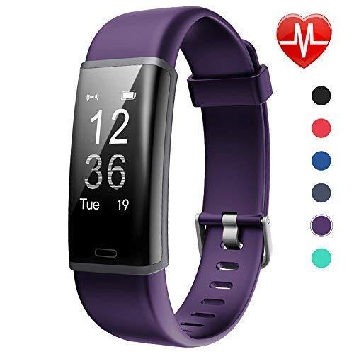 Lintelek Fitness Tracker, Pulsera de Actividad Personalizada Color con...