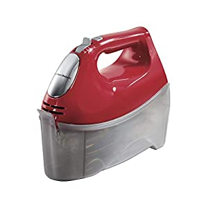 Baking with ease: with 6 speeds, including a slower first speed and quick burst button, you can adjust this handheld kitchen mixer to accommodate any recipe. Snap-on storage case: This hand mixer includes a handy Snap-on storage case with easy-access...