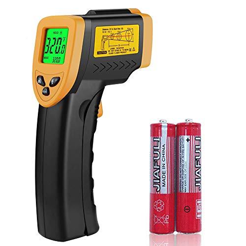 Termómetro láser infrarrojo digital, pistola de temperatura de -58 °F a 716 °F (-50 °C a 380 °C) dispositivo de medición sin contacto para cocinar, industrial, agua, etc.