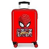 Marvel Spiderman Comic Valise de cabine rouge 38 x 55 x 20 cm rigide ABS fermeture à combinaison...
