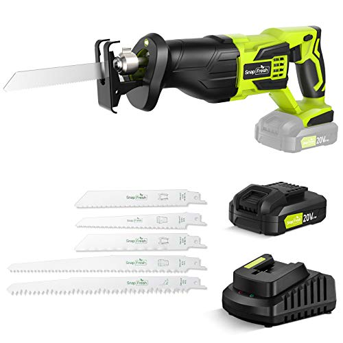 Amazon: Cordless Reciprocating Saw Battery-powered, 20V 2.0Ah Cordless Saw,  1 Hour Fast Charger By SnapFresh – 30% Off
