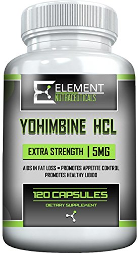 YOHIMBINE HCL (120ct x 5 mg) Extra Strength by Element Nutraceuticals