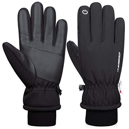 Anqier Winterhandschuhe Warm Touchscreen Handschuhe Baumwolle Winddicht Herren Damen Fahrradhandschuhe Skihandschuhe Outdoor Sport für Reiten Laufen Skifahren Wandern