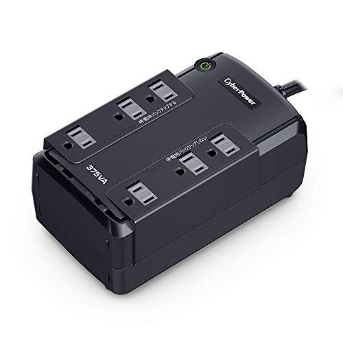 CyberPower 無停電電源装置  (常時商用給電/矩形波出力) 375VA/255W CP375JP