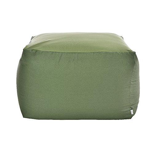 フレックス販売 ビーズクッション アースカラーキューブチェア Lサイズ グリーン PCM-6512T