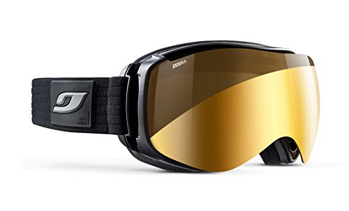 Julbo Starwind Photochromic Womens Snow Goggles with Ultra Venting Superflow Technology No Fogging - Zebra - Black/Grey