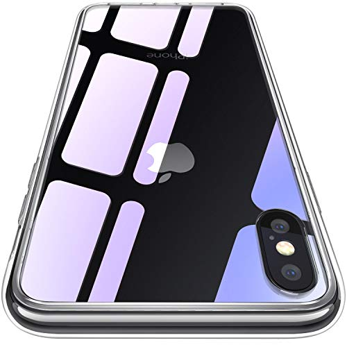 CASEKOO iPhone XS/X ケース 強化ガラスケース クリア 硬度9H 全面保護カバー アイフォン XS/X ケース 透明...