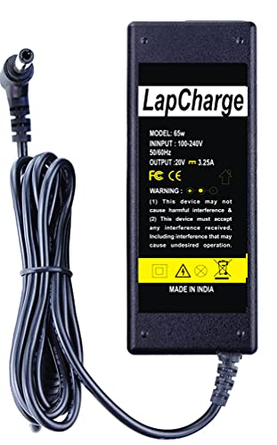 LapCharge Laptop Charger for Lenovo Ideapad Laptop Z360, Z370, Z380, Z400, Z460, Z470, Z480 (65w 3.25a 20V) Power Cord Included