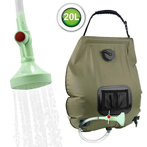 KIPIDA Solar Shower Bag,5 gallons/20L Solar Heating Camping...