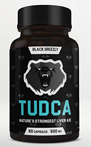 Black Grizzly Maximum Strength TUDCA 500 MG (Tauroursodeoxycholic Acid) - 500 MG Per Serving for Ultimate Liver Support & Immune Health -Nature's Strongest Liver Aid- 60 Serv