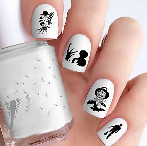 Freddy Krueger (Clear Water-Slide Nail Decals)