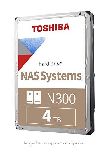 Toshiba N300 4TB NAS 3.5-Inch Internal Hard Drive - CMR SATA 6 GB/s 7200 RPM 128 MB Cache - HDWQ140XZSTA