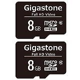 Gigastone Carte Mémoire 8 Go Lot de 2 Cartes, Compatible avec Android Gopro...