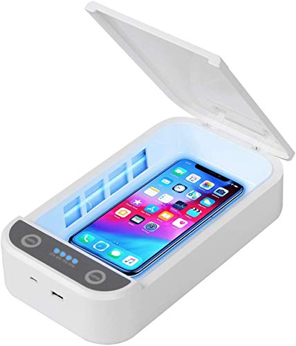 Nexqua UV Light Sterlizer/Sterlization/Sanitizer Portable Box For Cell Phone, Bottle Nipples, Mask, Baby Pacifier Kills Germs Viruses & Bacteria.