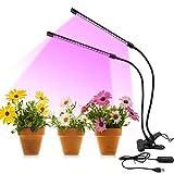 LED Lampe de Plante, Lampe de Croissance à 2 Têtes, Lampe Horticole Spectre...