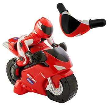 Chicco RC Ducati 1198 Moto Télécommandé au Guidon Intuitive, Véhicule Radiocommandé avec Klaxon et Bruits de Moteur - Cadeau pour Garçon ou Fille, Jouets pour Enfants de 2 à 6 Ans