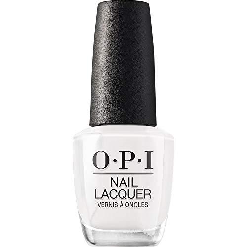 OPI Nail Lacquer, Alpine Snow, White Nail Polish, 0.5 fl oz