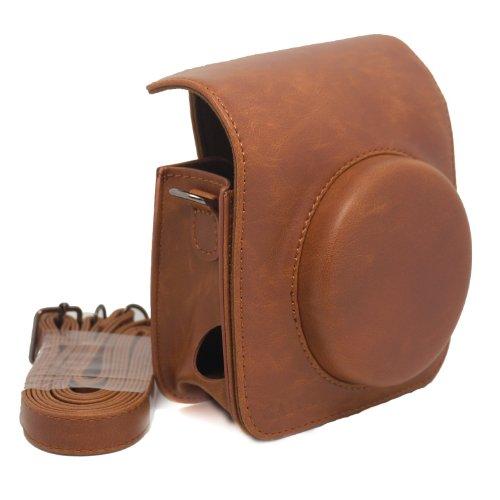 CAIUL fujifilm instax mini 90 カメラ ヴィンテージ フィット バッグ(材質:合成PU革), M90FBR (AA, ブラウン)
