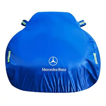 Old street Car Cover Compatible with Mercedes-AMG GT 4-Door Coupe 2018-2021, All Weather Waterproof Breathable Car Covers with Windproof Straps Outdoor Indoor Car Tarpaulin with Reflective Strips