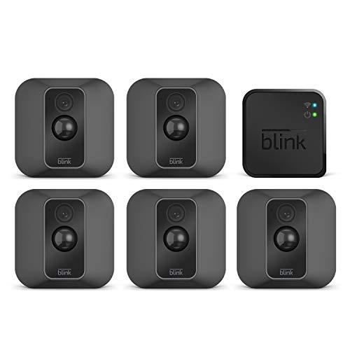 Blink XT2 | Telecamera di sicurezza per interni/esterni con archiviazione sul cloud, audio bidirezionale, autonomia di 2 anni | Sistema a 5 telecamere