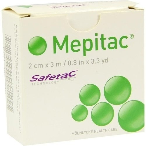 Mepitac 2 x 300 cm or (2cm x 3 m) Roll Non-Sterile by Mlnlycke Health Care GmbH