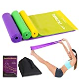 Different Strength Exercise Resistance Bands Set of 3, Stretch Bands for Any Exercise,Home Gym, Physical Therapy, Sport, Pilates, Muscle Relaxation Exercise, Yoga, Outdoor Strength Training Workout