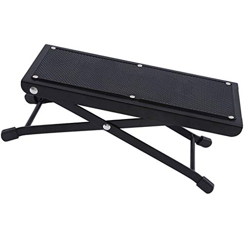 Guitar Foot Rest Adjustable Folding Guitar Footstool Durable Guitar Foot Stand - Black