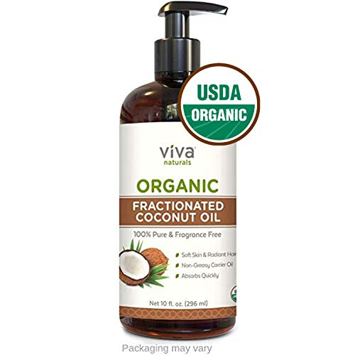 Organic Fractionated Coconut Oil - Amazing Massage Oil & Aromatherapy Carrier Oil for Essential Oils - Face Moisturizer & Body Oil, Non Greasy, 10 oz