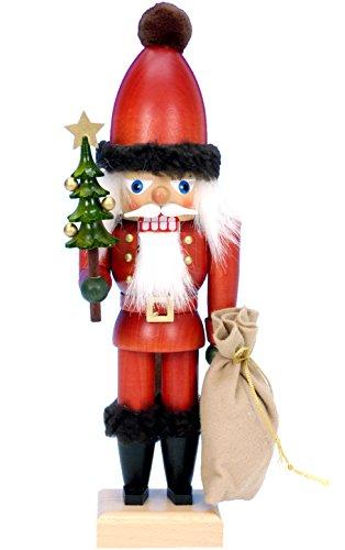 Alexander Taron Importer 32-643 - Christian Ulbricht Nutcracker - Santa with Tree and Sack - 12'' H x 4'' W x 4'' D