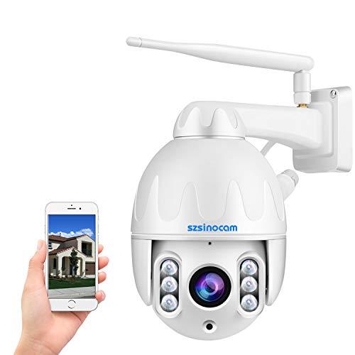 Telecamera dome IP WiFi PTZ,Telecamera IP WiFi HD 1080p, Dome Telecamera di sorveglianza,8X Zoom Ottico,Rilevamento umanooide di Movimento,Allarme Sonoro e Luminoso,Audio Bidirezionale