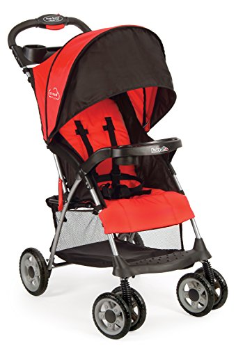 Kolcraft Cloud Plus Lightweight Easy Fold Compact Travel Baby Stroller, Fire Red, 17.6x29.9x41.7 Inch (Pack of 1)