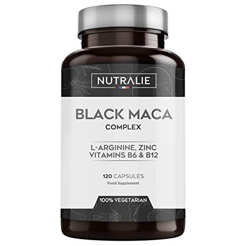 Maca negra andina con l-arginina, zinc y vitaminas b6 b12  