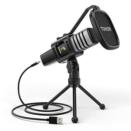 Micrófono USB de Condensador TONOR para Ordenadores PC,...