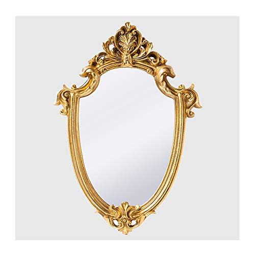 Caroll's Home Gold Vintage Wall Mirror, Wall Mounted European Decorative Baroque Antique Mirror, Elegant Artistic Luxury Versailles Home Dcor for Living Room, Bedroom, Hallway (Gold)