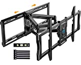 Full Motion Articulating TV Mount for 37-80' Flat/Curve TVs with Max VESA 600x400mm Sliding TV Wall...