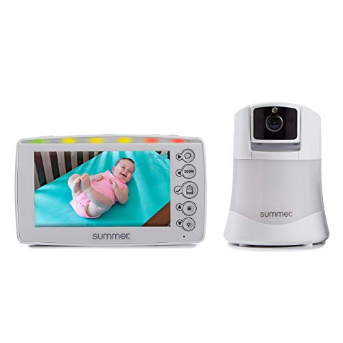 Summer Video Baby Monitor with 5-inch Digital Color Screen and Remote Steering Camera - Baby Video Monitor with Remote Digital Zoom (Renewed)