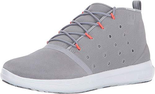 Under Armour Mujeres Charged Bajos & Medios Cordon Zapatos para Correr, Steel (035)/Overcast Gray, Talla 8.5