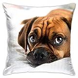 Popular Fashion Element Pillowcase Square Pillowcase 18X18 inch Living Room Sofa Bedroom-Cute Puggle Dog Puppy Puppies Beagle Pug