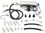 C80 Non-Dismantle Gasoline Fuel Injector 140PSI Throttle Cleaner Auto Fuel Injector Cleaner Kit and Tester for Petrol EFI Throttle Car 600ML Tank