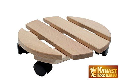 Unbekannt Pflanzenroller Holz MASSIV rund 30 cm bis 120 KG
