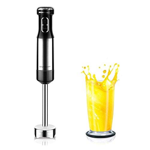 Aigostar Elektrischer Zitruspresse,2 Zapfen, 40 Watt, 1 Liter, BPA-frei, Einstellbare Zellstoffkontrolle, Schwarz