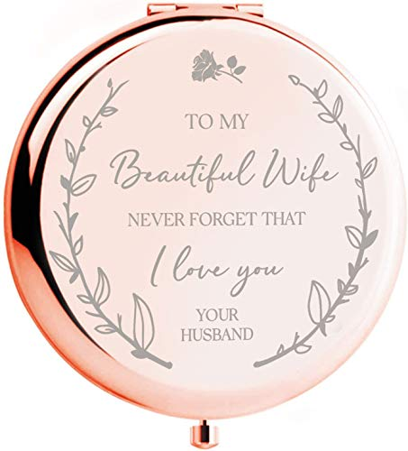 Anniversary for Her - 'to My Beautiful Wife' Compact Mirror...