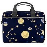 Constellation - Maletín para portátil de 13,4 a 14,5 pulgadas, bandolera para hombre, color negro