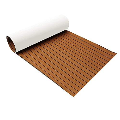 Zeeos EVA Foam Teak Decking Floor Sheet,Non-Skid-Self-Adhesive...