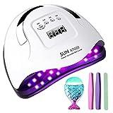Lampe UV Sèche Ongles, 180W UV LED Séchoir à Ongles Professionnel...