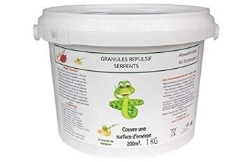 Feuille rouge - Granulés répulsif Serpent - 1 kg protège + - 200 m² (+ - 2 litres)