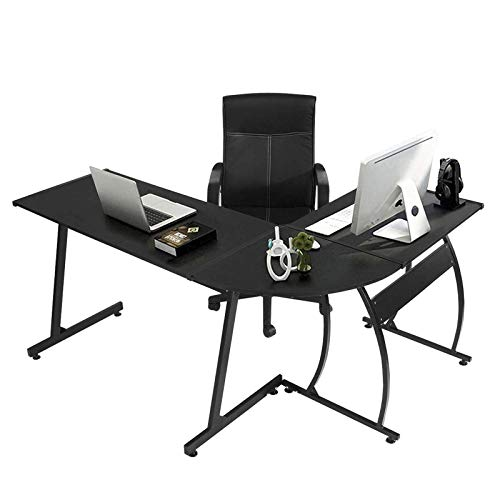 GreenForest L Shaped Gaming Computer Desk 58.1'',L-Shape Corner Gaming...