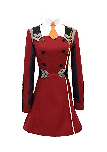 Fantasia de cosplay wish costume shop darling in the franxx uniform zero two, vermelho, custom made