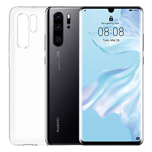 HUAWEI P30 Pro Smartphone e Cover Trasparente, 8 GB RAM, Memoria 128 GB, Display 6.47' FHD+, Processore Kirin 980, Quadrupla Fotocamera 40+20+8 MP, Sensore TOF, SuperZoom 50x,Nero [Italia]